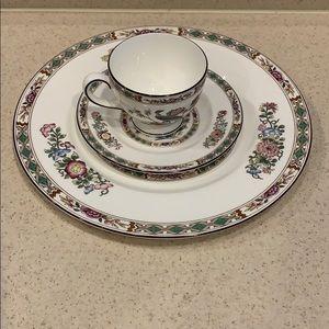 Wedgwood Bone China plate and cup set Kutani Krane